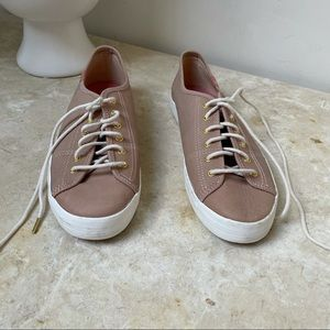 Keds women's pink leather sneakers. Size 8 NWOB